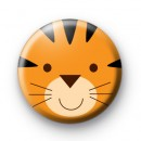 Tiger Face Button Badge