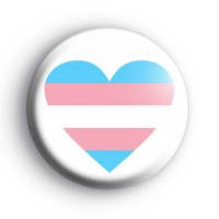 Transgender Flag Heart Badge
