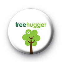 Cute Tree Hugger Button Badge