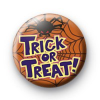 Trick or Treat with Spider badge