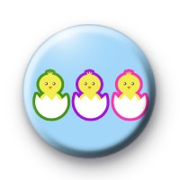 Trio Of Easter Chicks Badges
