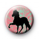 Cute Black Horse Button Badge
