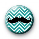 Sea Green Moustache Pin Badge