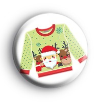 Ugly Green Christmas Jumper Badge