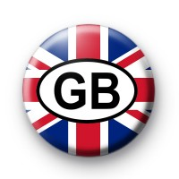 union Jack GB Oval badge