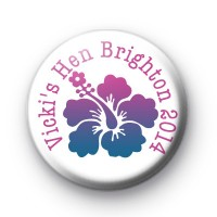 Hawaiian Hen Party Button Badges