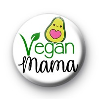 Vegan Mama Avocado Button Badge