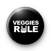 Veggies Rule Button Badges