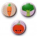Set of 3 Vegetable badges