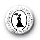 Victorian Cameo Lady Button Badges