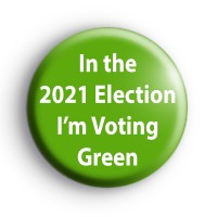 I'm Voting Green Party 2021 Local Election Badge thumbnail