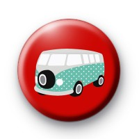 Retro Camper Van Button Badges