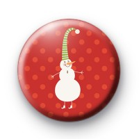 Walking Snowman Badge