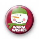 Warm Wishes Snowman 1 Button Badges