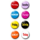Project Life Days of The Week Pack of 8 Badges