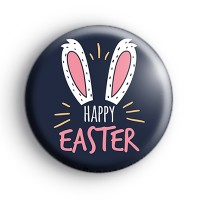 Bunny Ears Happy Easter Badge