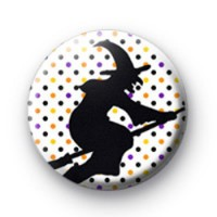 Spooky Wicked Witch Button Badges