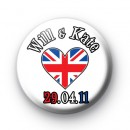 Will & Kate Royal Wedding Badges