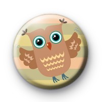 Wise Owl Owl Button Badge
