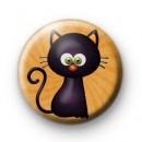 Witches Back Cat Button Badge