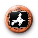 Witch on a Broomstick Orange Badge