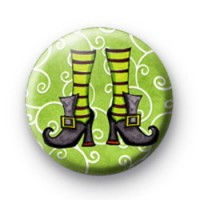 Funky Witch Shoes Button Badges