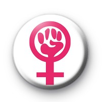 Women's Rights Symbol Pin Button Badge