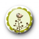 Cute Green Woodland Bird Badges