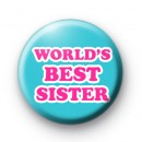 Worlds Best Sister Button Badges