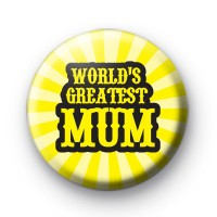 Worlds Greatest Mum Pin Badge