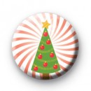 Xmas Tree Red Spiral badge