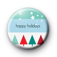 Christmas Trees Happy Holidays badges