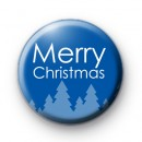 Merry Christmas Blue Xmas Trees Badge