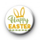Yellow Bunny Ears Happy Easter Badge