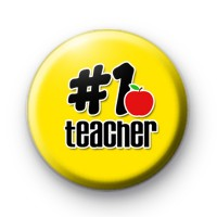Yellow Number 1 Teacher Badge
