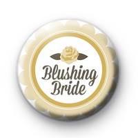 Yellow Rose Blushing Bride Badge