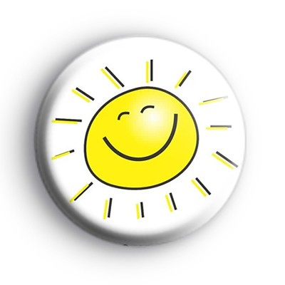 Yellow Smiley Face Sunshine Badge