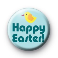 Yellow Chick Happy Easter Button Badges
