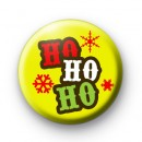 Xmas Ho Ho Ho Yellow Badge