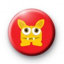 Yellow Monster Button Badges