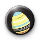 Yellow Pattern Easter Egg Badge