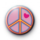 Yellow Peace Love Badges