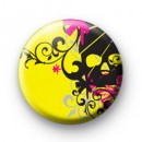 Yellow Rock Skull Badge