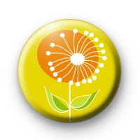 Yellow Spring Flower Badge