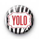 YOLO Zebra Print Badge