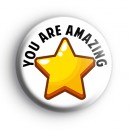 You Are Amazing Gold Star Badge