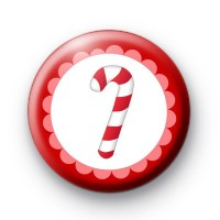Yummy Christmas Candy Cane Badge