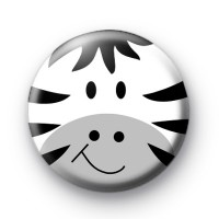 Zebra Face Button Badges