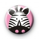 Pink Zebra Button Badge