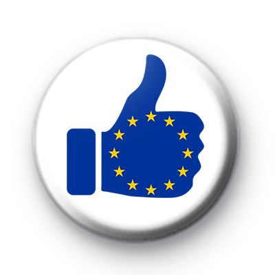 Thumbs Up European Flag Button Badges